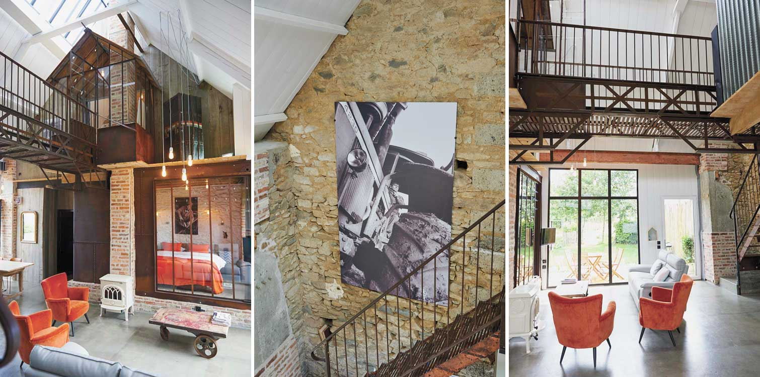 la grange d 39 isidore the charmingly converted vintage barn. Black Bedroom Furniture Sets. Home Design Ideas