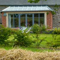 relax in your sunroom and cottage garden