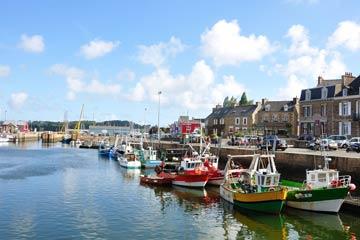 Paimpol, ville portuaire de Côtes d'Armor, Bretagne