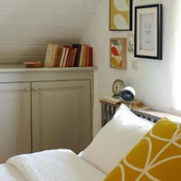 romantic bedroom in Brittany cottage for a wonderful escape