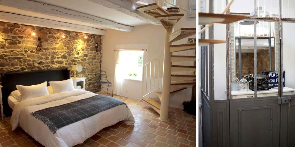 La maison de jos phine g te rural et chic dans les c tes - Decoration interieur chambre adulte ...