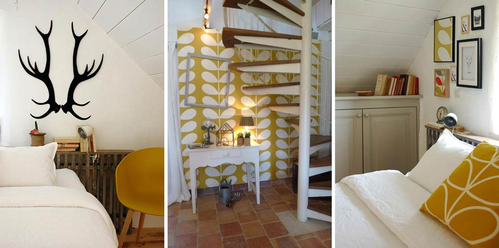 fresh colours in this chic cottage in Brittany