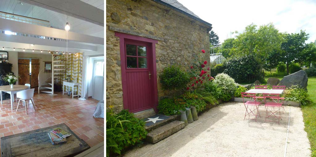enjoy a barbeque on the terrace of this self catering cottage in Brittany