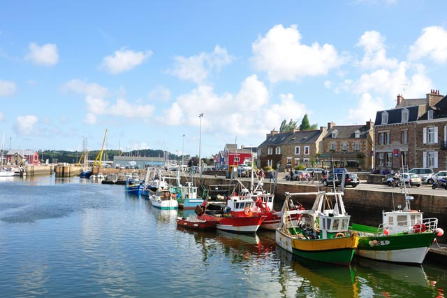 The picturesque port town of Paimpol in Brittany