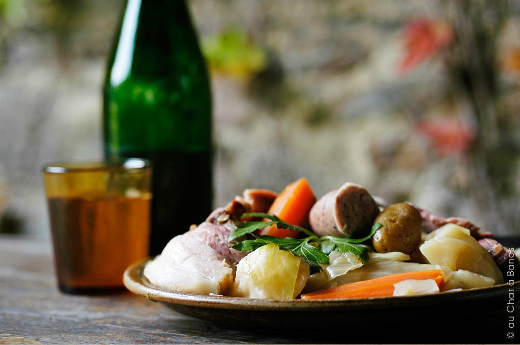 traditional pot au feu in our child friendly restaurant and farm